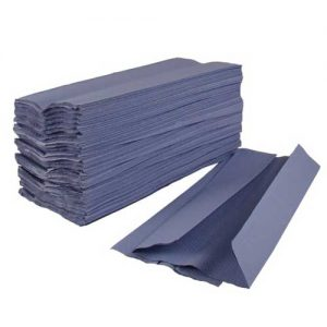 C Fold Hand Towels 1ply Blue