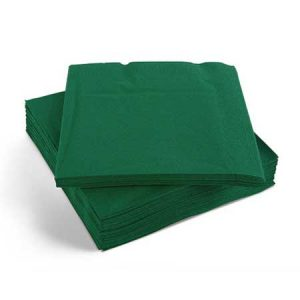 Forest Green Napkins 33cm 2ply 2000's