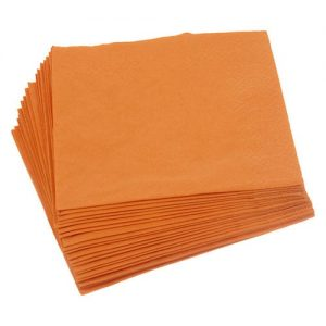 Orange Napkins 33cm 2ply 2000's