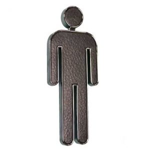 Black & Chrome Rectangle Gents Sign, WR-SIGN-GENTS-3