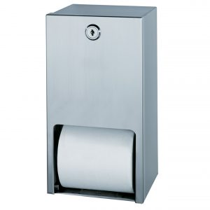 Toilet Roll Dispenser Twin Roll Vertical Stainless Steel, JZH210W