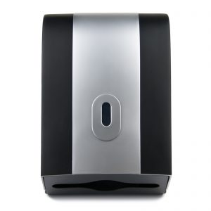 Hand Towel Dispenser Wave Black Silver, WR-CD-8128D