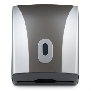 Hand Towel Dispenser Compact Silver Graphite, WR-CD-8228C
