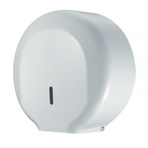 Toilet Roll Dispenser Mini Jumbo Stainless Steel White WR-JZH25KW