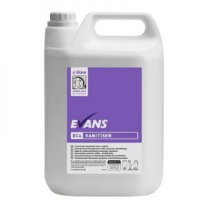 Evans EC4 Concentrated Sanitiser 5ltr