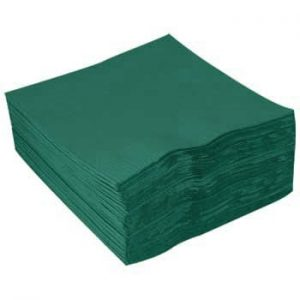 40cm 2ply Napkins Forest Green 2000's 4 Fold