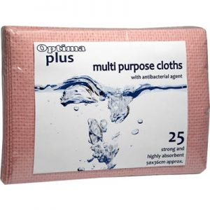 Multi Purpose Cloths Red 25pk with Antibacterial Agent