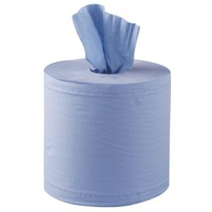 Embossed 150m Centrefeed Blue Rolls 2ply