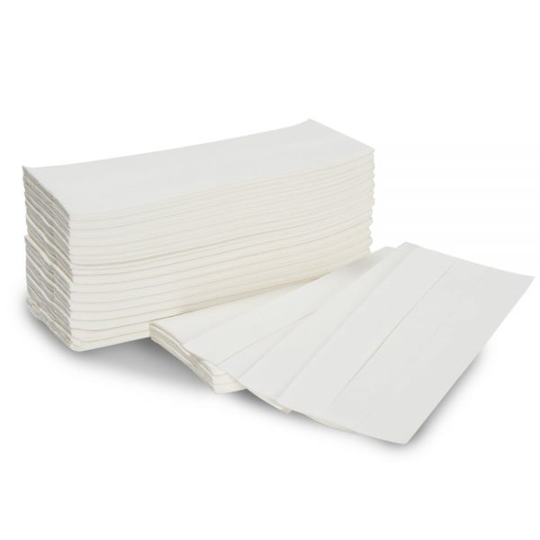 C Fold White Paper Hand Towels 2ply