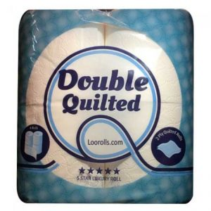 Double Quilted Toilet Rolls 2ply White 40pk
