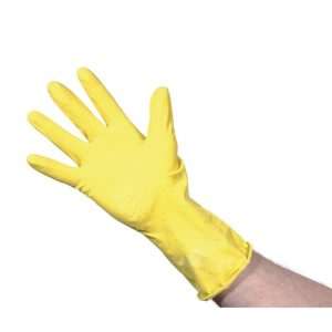 Rubber Gloves Yellow Large 10pk
