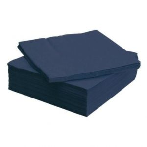 40cm 2ply Napkins Midnight Blue 2000's 4 Fold