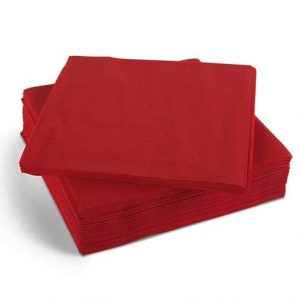 40cm 3ply Napkins Red 1000's