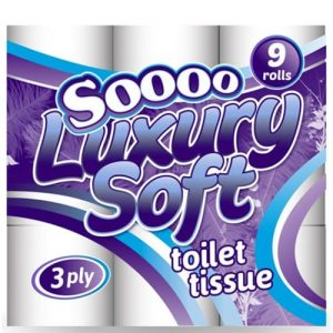 Soooo Luxury Soft 3ply Toilet Rolls White 45's