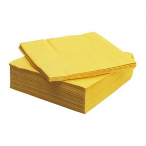 40cm 2ply Napkins Yellow 2000's