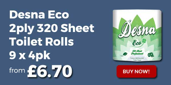 desna eco 320 sheet toilet rolls