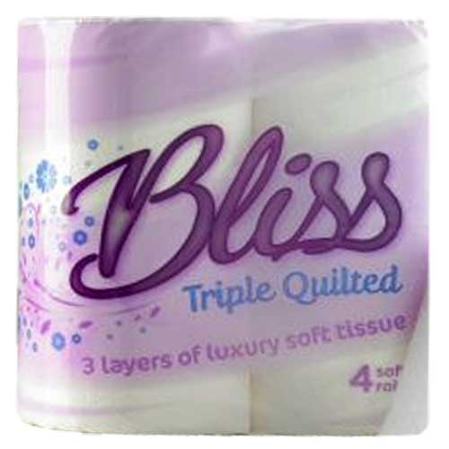 Bliss Triple Quilted Toilet Tissue 10x4pk 3ply Loorolls